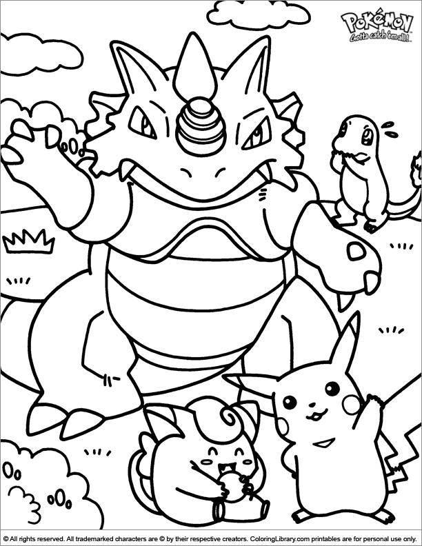 Pokemon coloring book printable