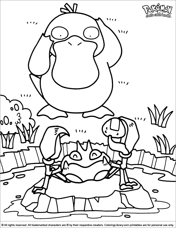 Cool Pokemon coloring page