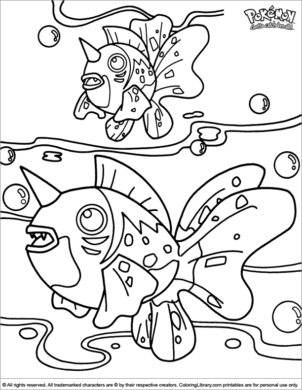 Pokemon coloring book page