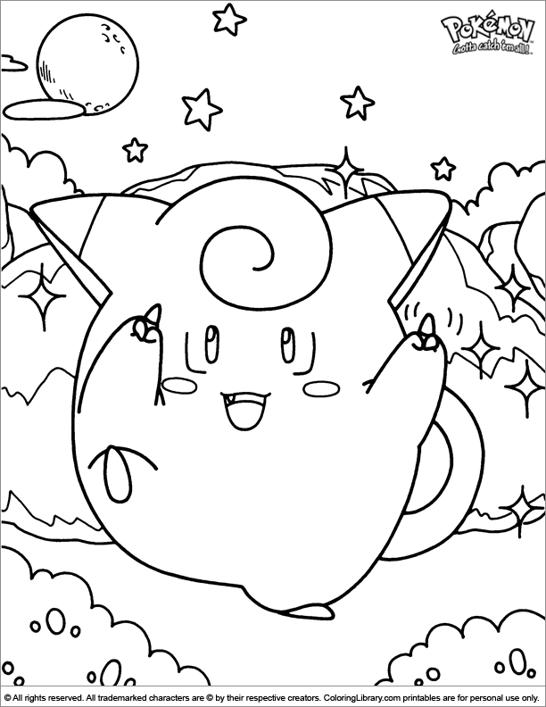 Pokemon coloring for kids