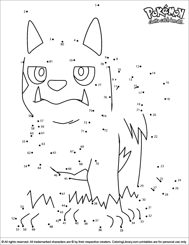 Pokemon free coloring sheet
