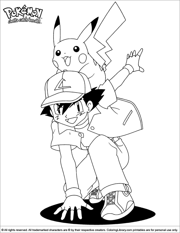 Pokemon coloring image