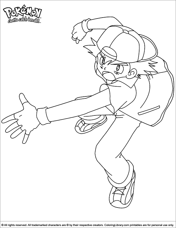 Pokemon Coloring Pages Free And Printable | 792x612