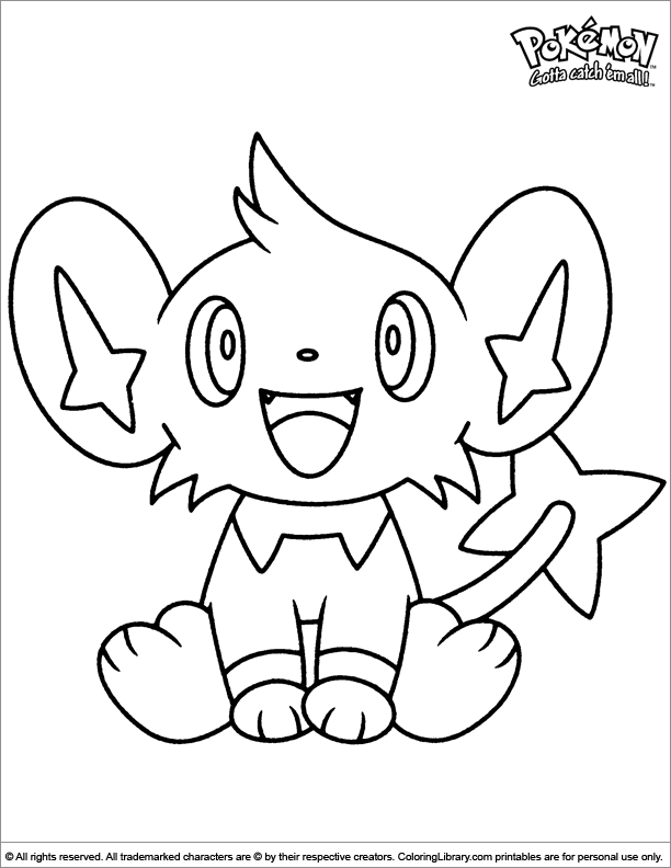 Pokemon coloring page for kids to print
