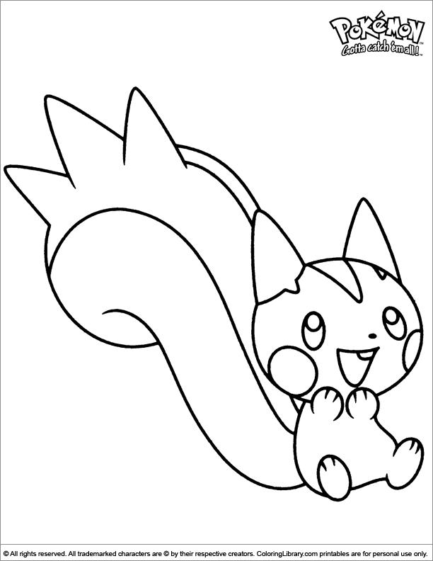 Fun Pokemon coloring sheet
