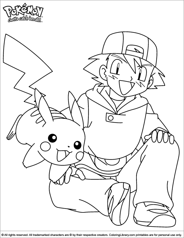 Pokemon Coloring Picture And The Coloring Page