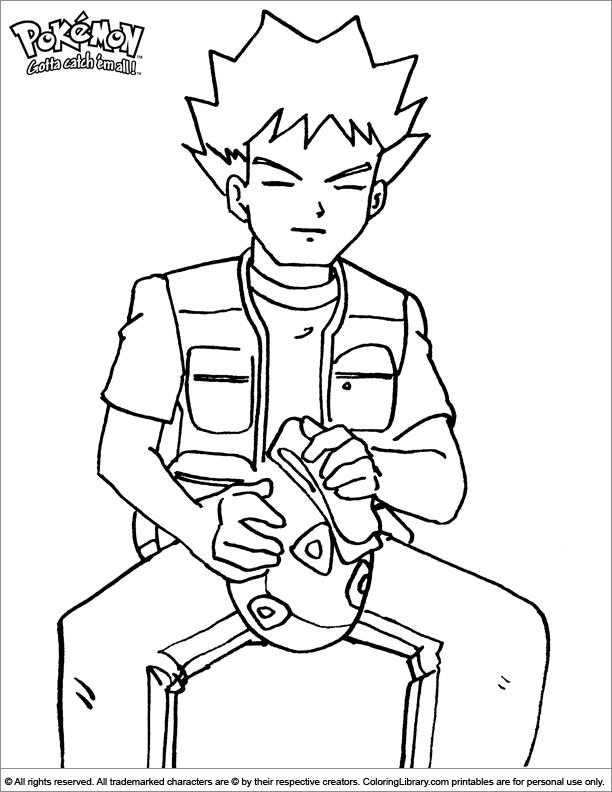 Pokemon free coloring page