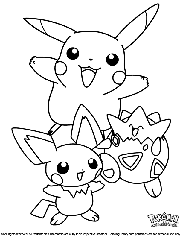 Pokemon coloring pictures for kids