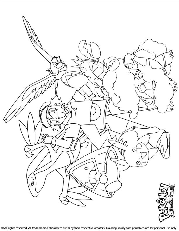Pokemon free coloring