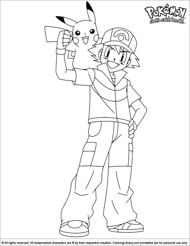 Pokemon coloring picture