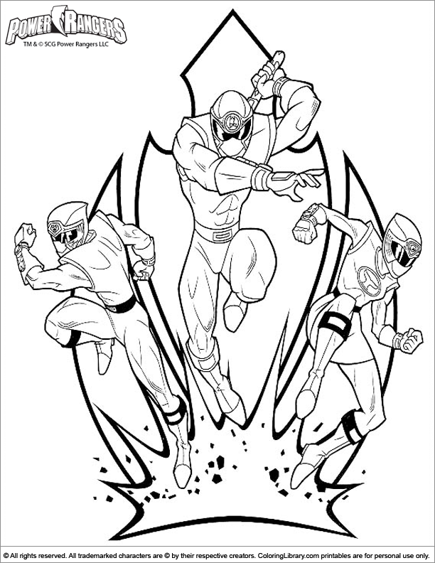 - Power Rangers Free Printable Coloring Page - Coloring Library