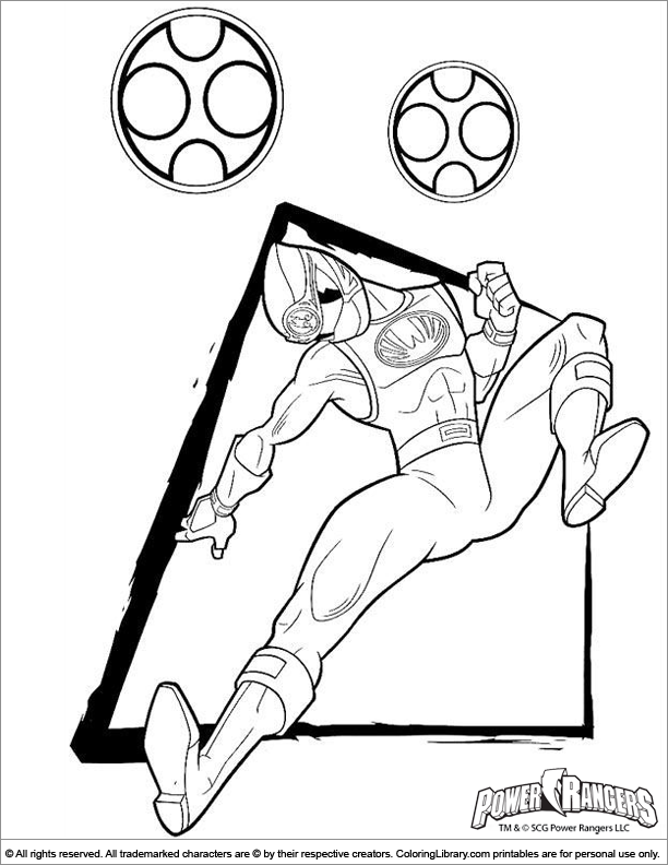 Power Rangers coloring picture for kids