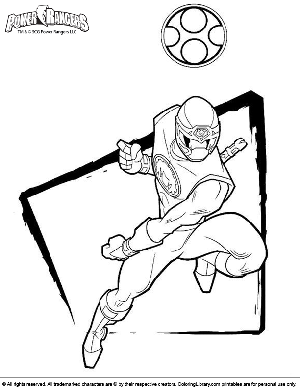 Free Power Rangers color sheet