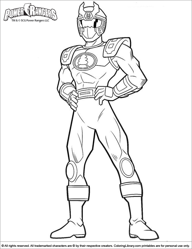 power rangers free coloring