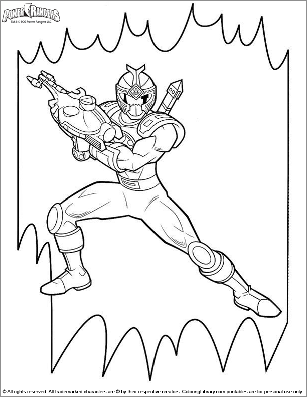 Power Rangers coloring page online