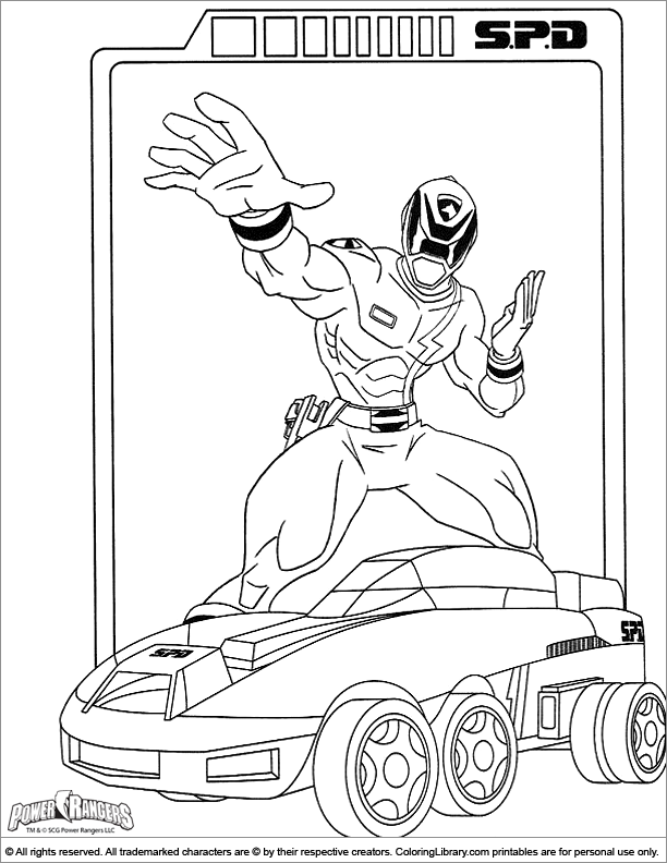 Fun Power Rangers coloring page