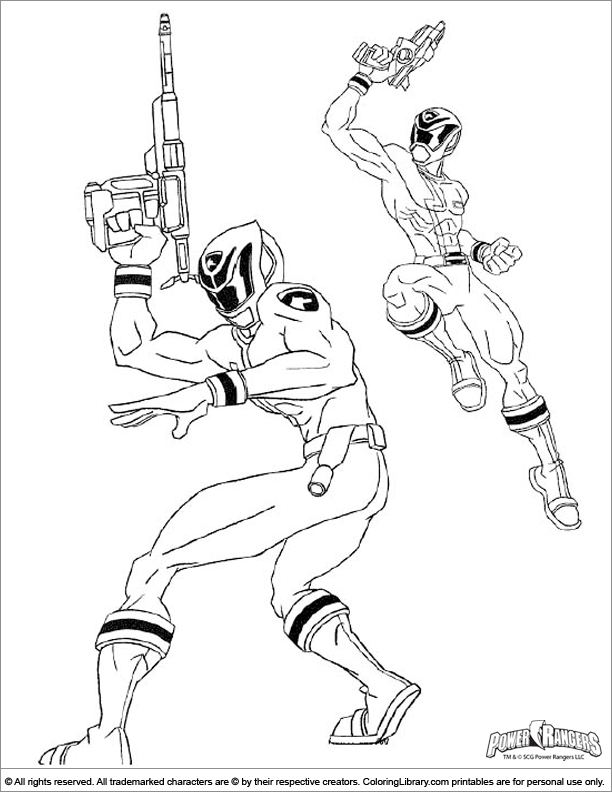 Power Rangers printable coloring page for kids