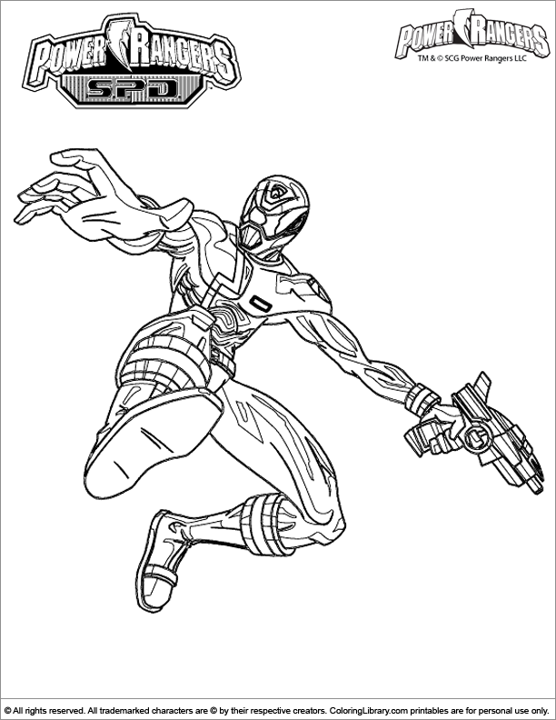 Power Rangers coloring sheet for kids