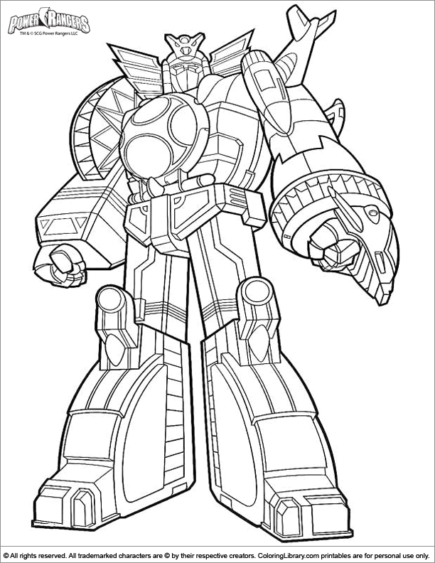 power ranger robot coloring pages - photo#26