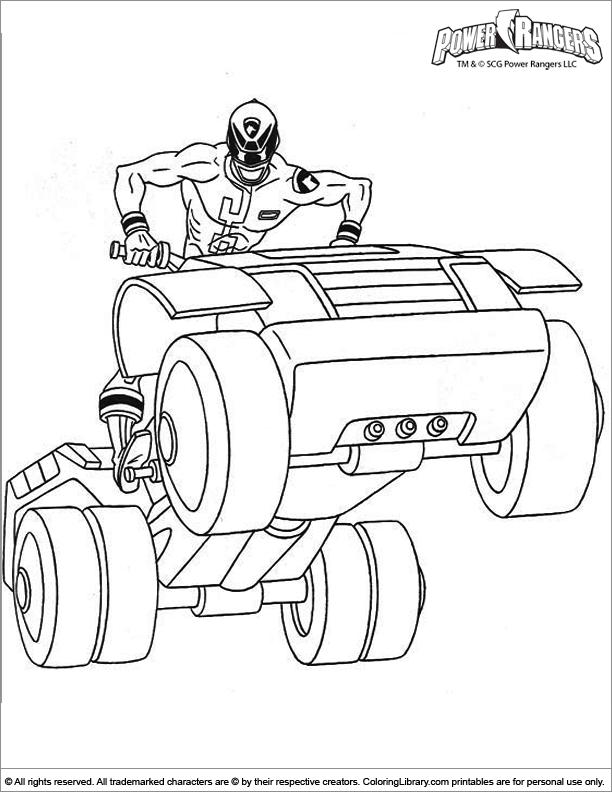Power Rangers coloring printout