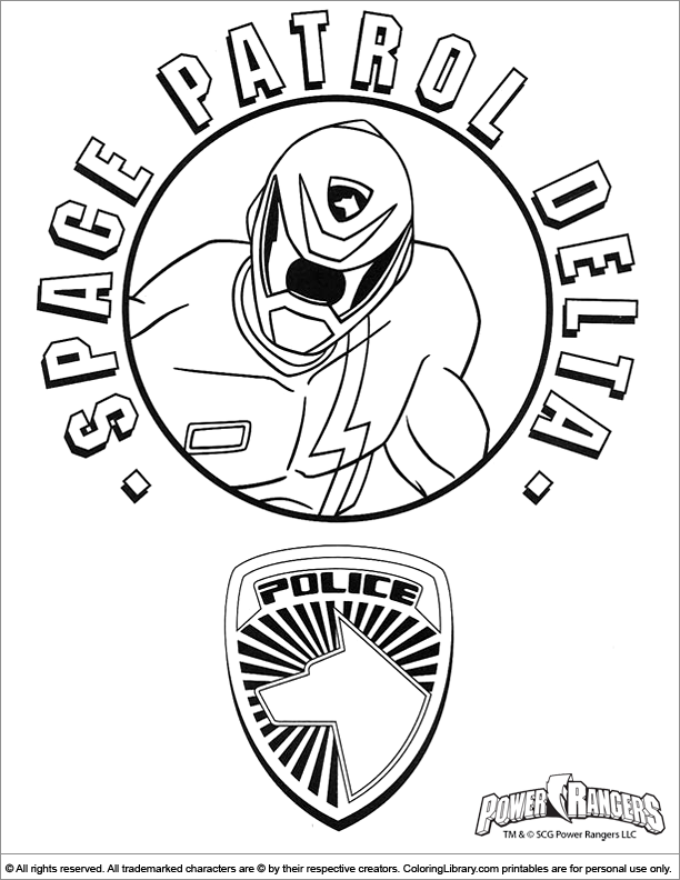 Power Rangers online coloring page