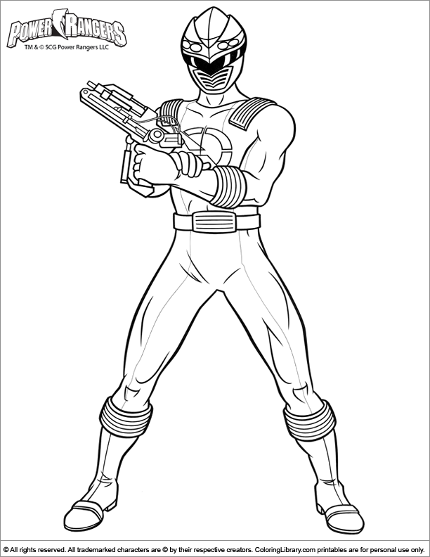 Power Rangers coloring page fun