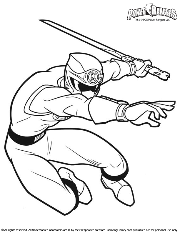 Power Rangers coloring book picture