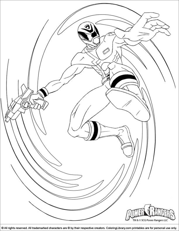 Power Rangers Coloring Picture Power Rangers Spd Coloring Pages