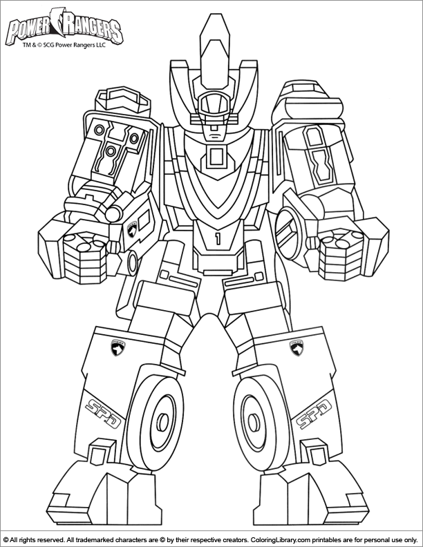Power Rangers coloring page to print