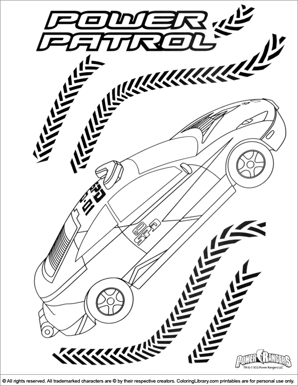 Power Rangers coloring page for kids to print