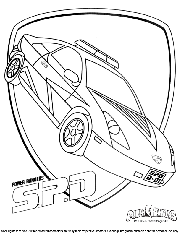 Power Rangers coloring page for children