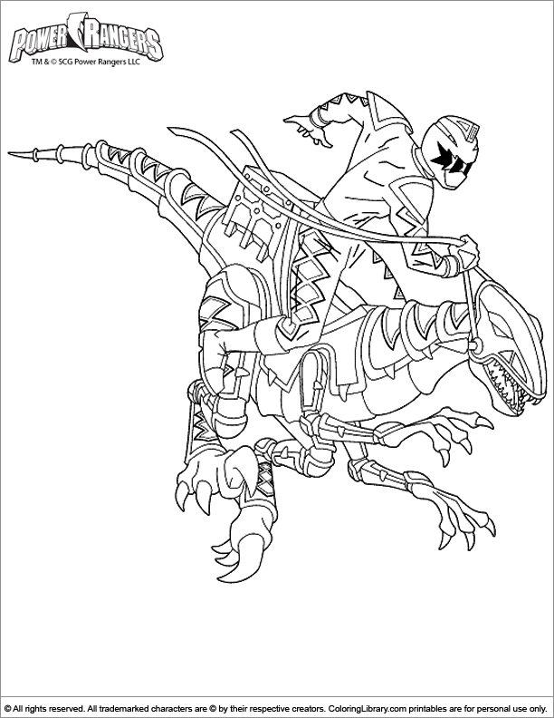 Power Rangers coloring book printable