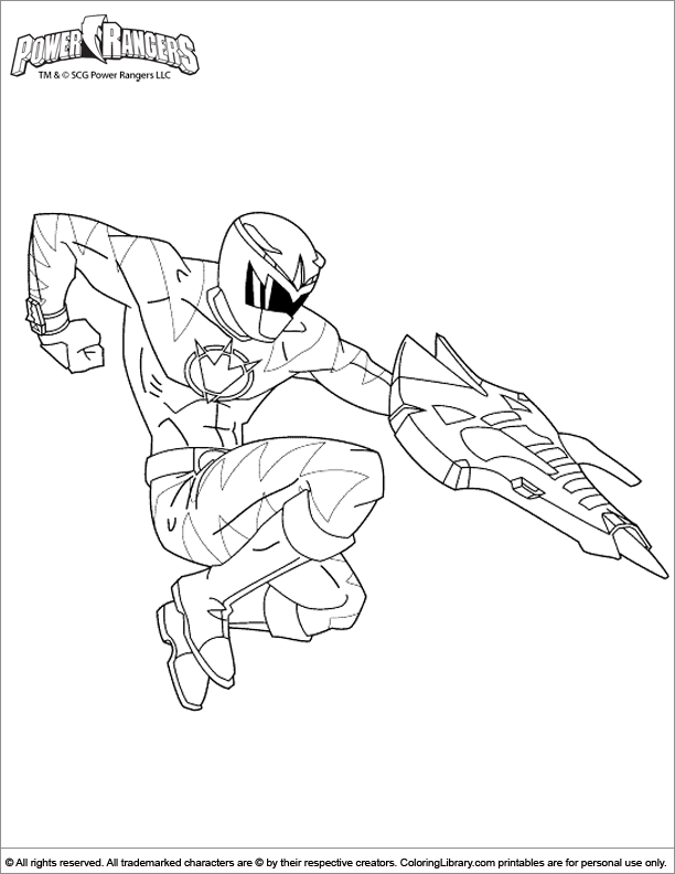 Power Rangers coloring book page