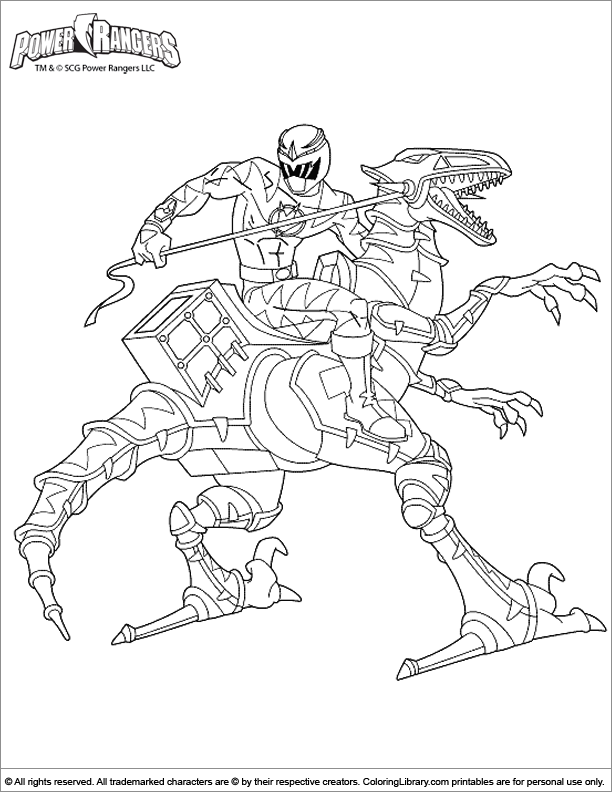 Power Rangers free printable coloring page