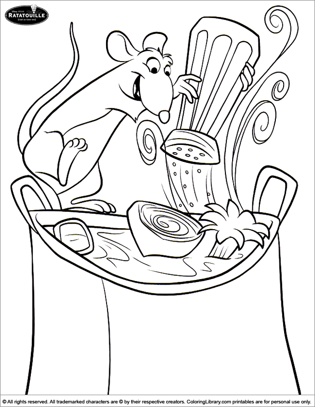 Ratatouille coloring picture