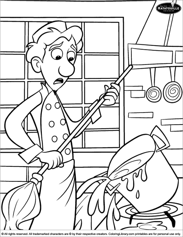 Ratatouille coloring page to print