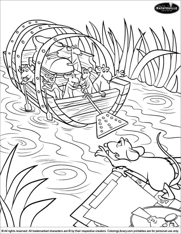 Ratatouille coloring printout