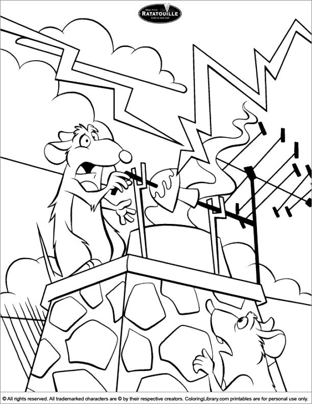 Ratatouille coloring book sheet