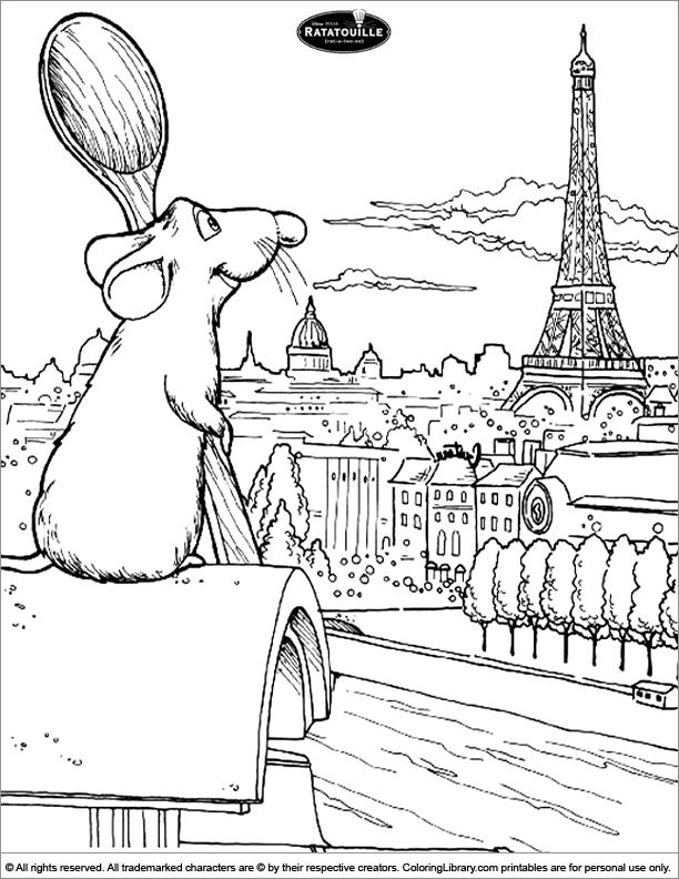 Ratatouille coloring picture