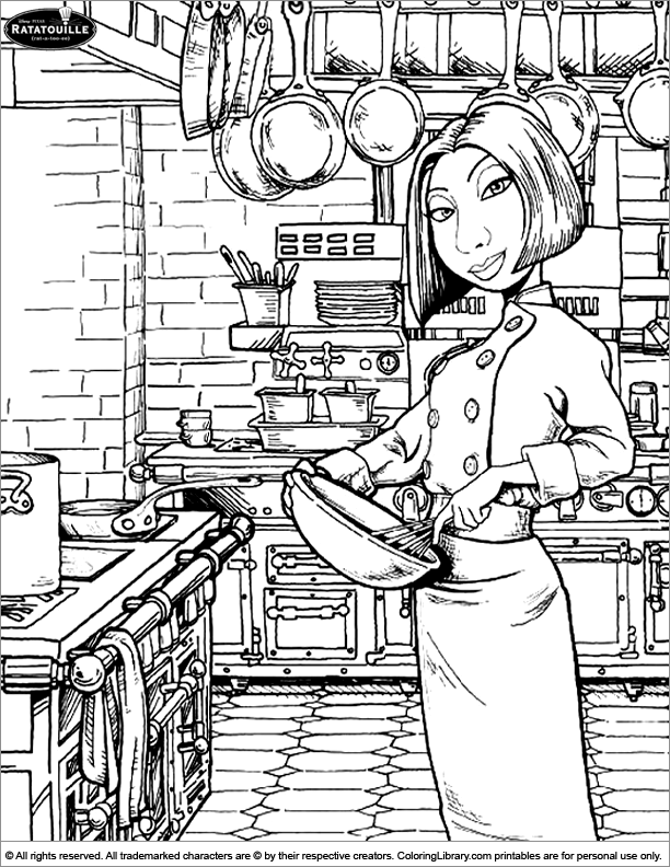 Ratatouille free coloring page