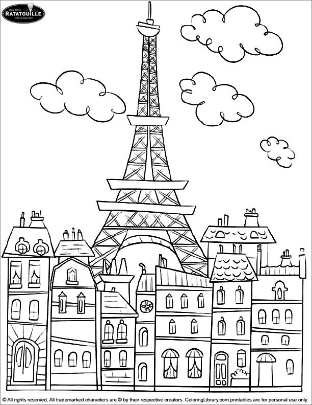 Ratatouille printable coloring page