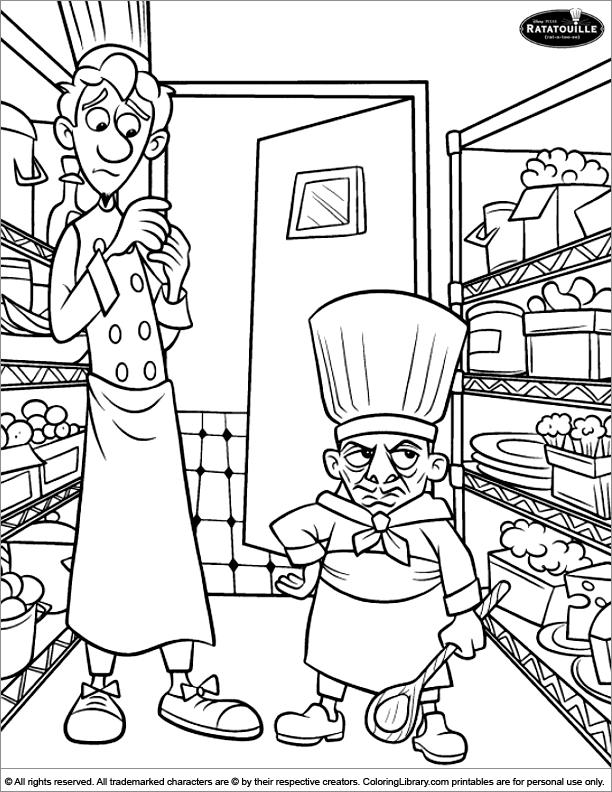 Ratatouille color page for kids
