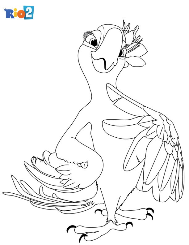 Rio 2 coloring book page for kids