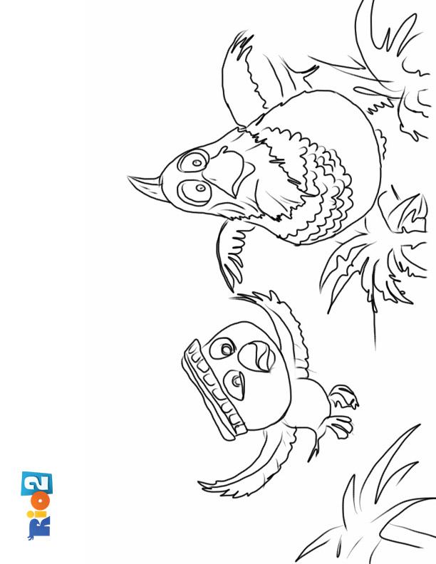 Rio 2 coloring sheet for kids