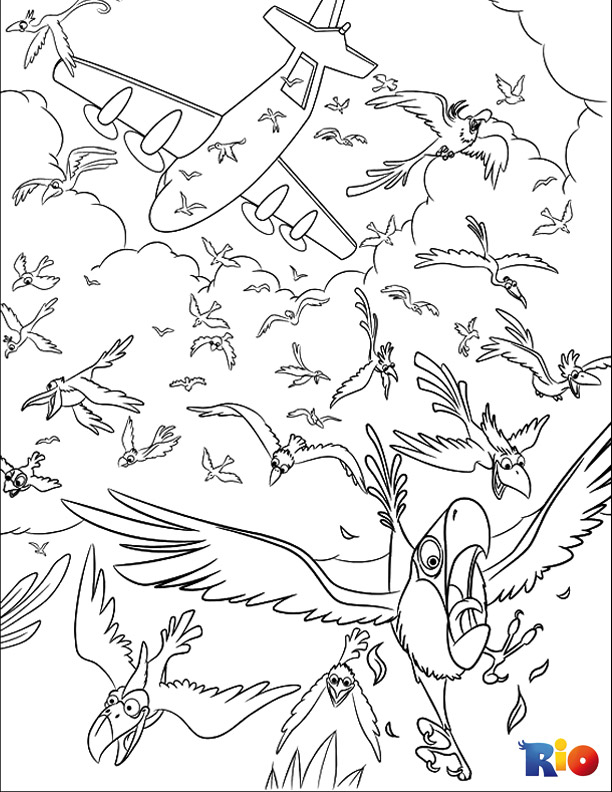Rio coloring page for kids to print