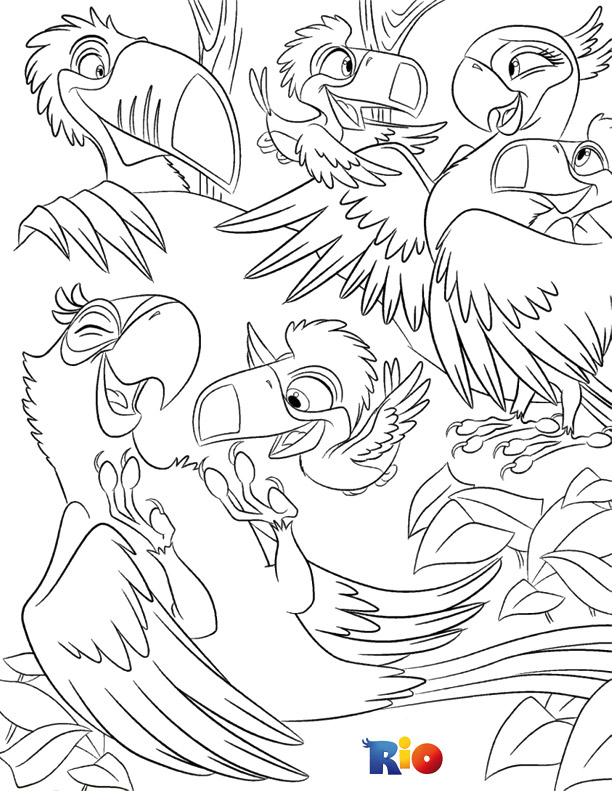 Rio coloring picture to print