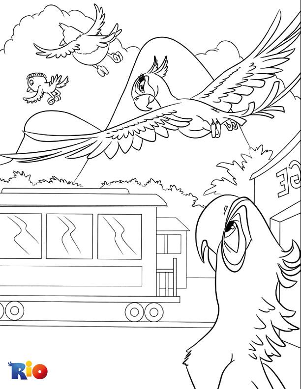 Rio coloring page fun