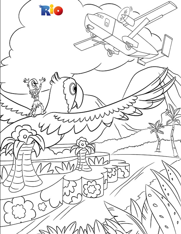 Rio coloring book picture