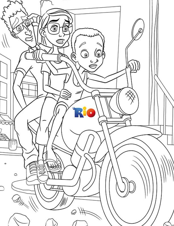 Rio printable coloring page