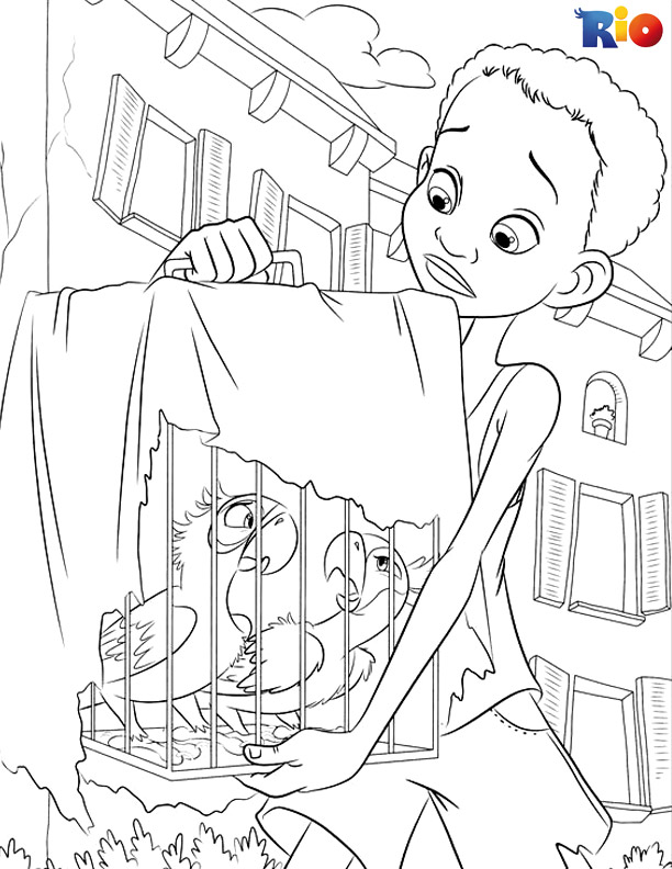 Rio coloring page for children